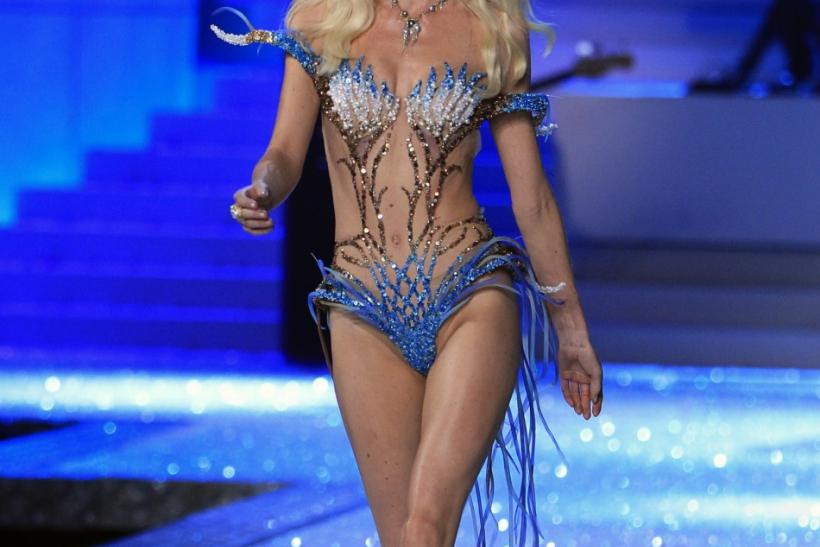 A Victoria's Secret model presents a creation during the Victoria's Secret Fashion Show at the Lexington Armory in New York November 9, 2011.