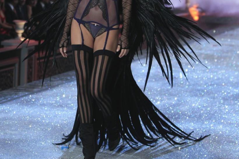 Model Adriana Lima presents a creation during the Victoria's Secret Fashion Show at the Lexington Armory in New York
