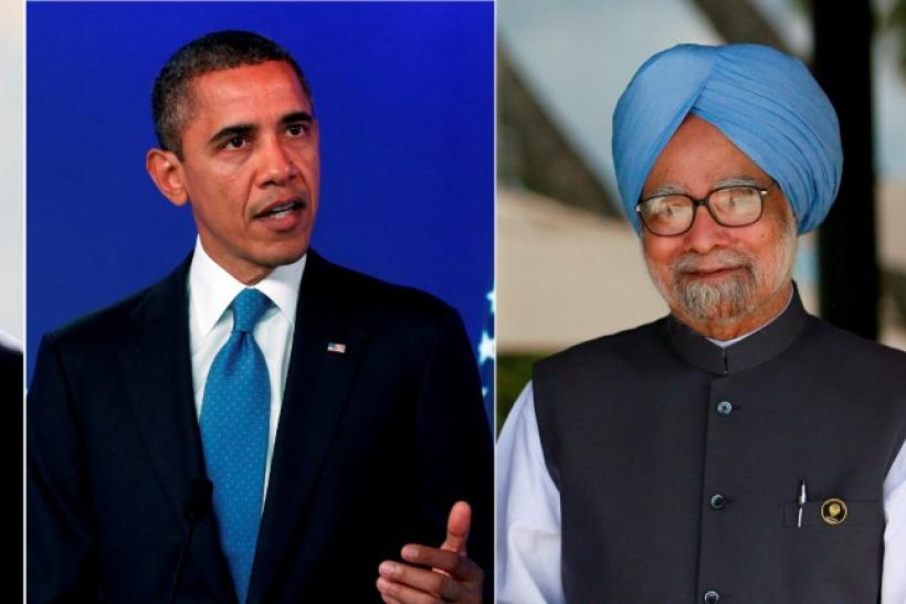 Hu Jintao, Barack Obama and Manmohan Singh