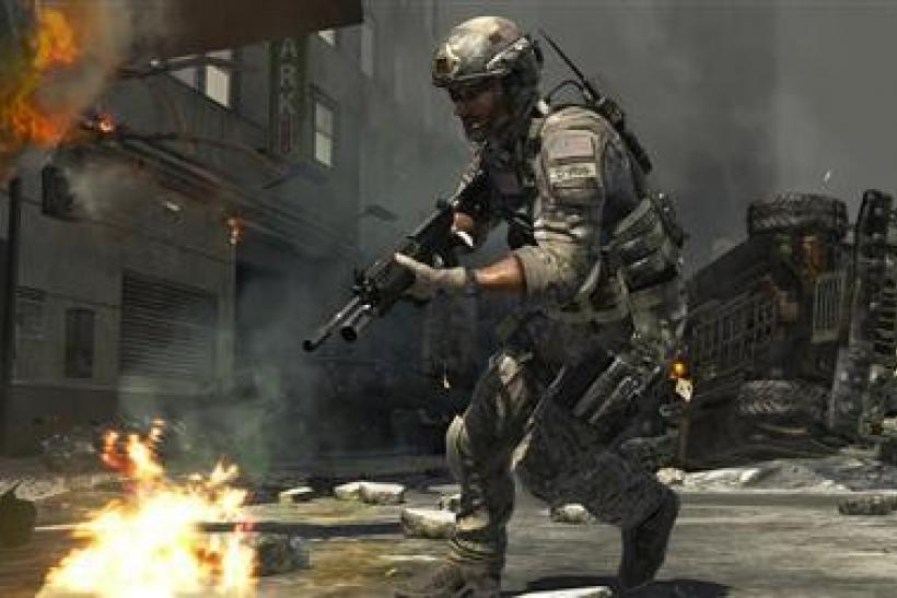 A screenshot from the video game Modern Warfare 3 is seen in a handout photo