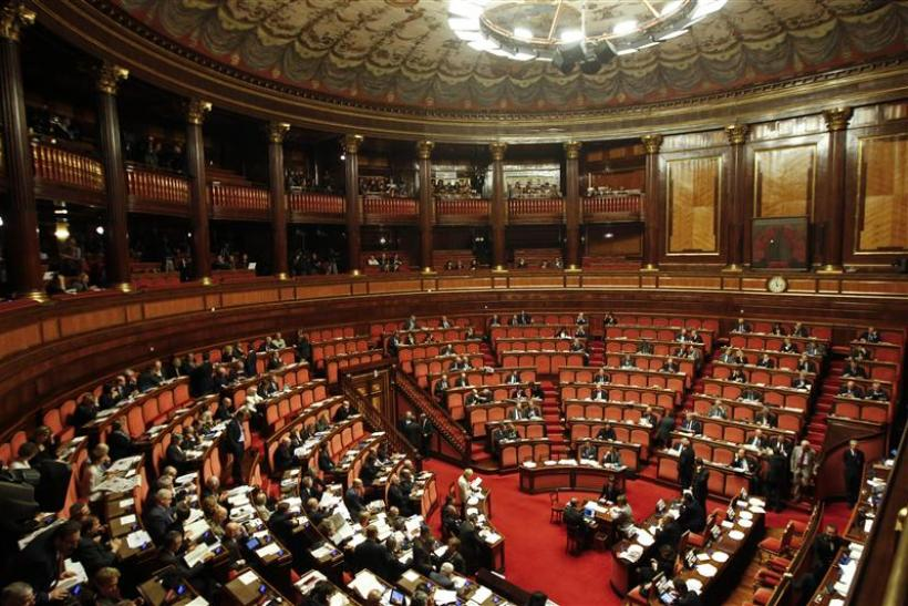The Senate is seen during a voting session in Rome