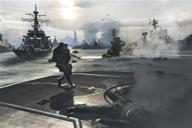 A screenshot from the video game Modern Warfare 3 is seen in a handout photo.