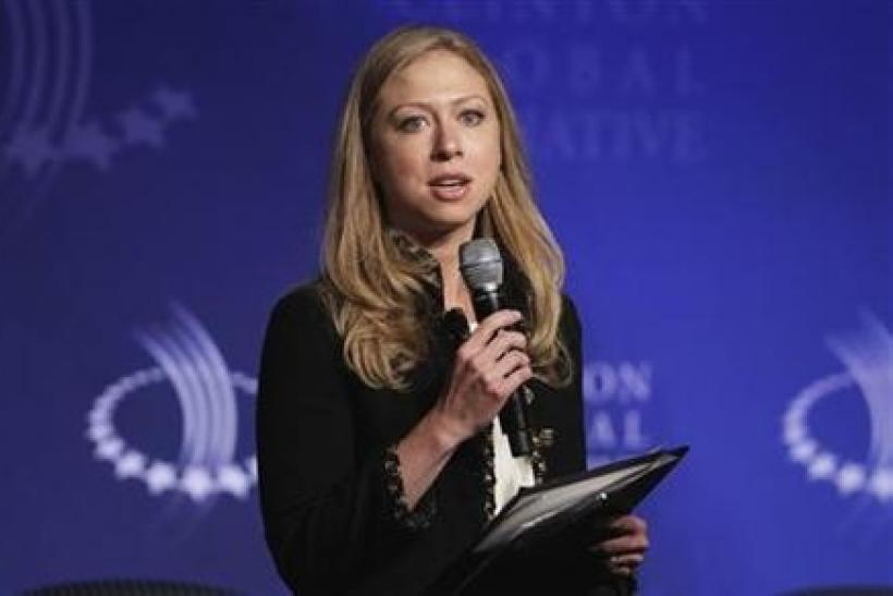 Chelsea Clinton speaks during a panel discussion regarding technologies for economic empowerment at the Clinton Global Initiative in New York, September 22, 2011.