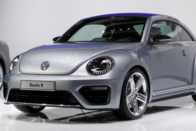 The Volkswagen Beetle R concept car is seen at the LA Auto Show in Los Angeles