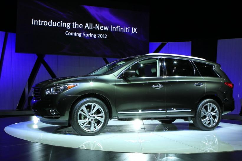 The Infiniti JX is unveiled at the LA Auto Show in Los Angeles, California