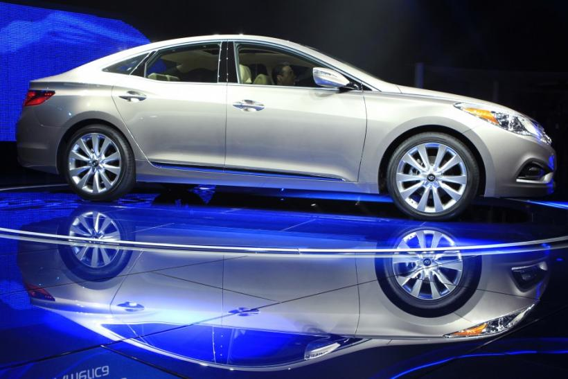 The Hyundai Azera is unveiled at the LA Auto Show in Los Angeles, California