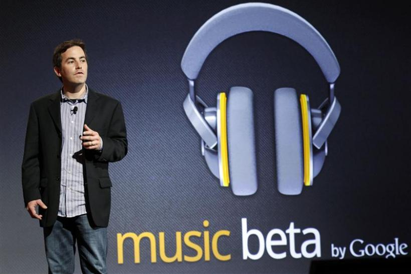 Jamie Rosenberg, director of Digital Content (Android) at Google, speaks at the launch of Google Music in Los Angeles