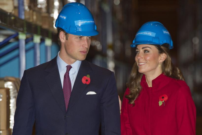 Britain's Prince William and Catherine, Duchess of Cambridge visit the UNICEF emergency supply centre in Copenhagen