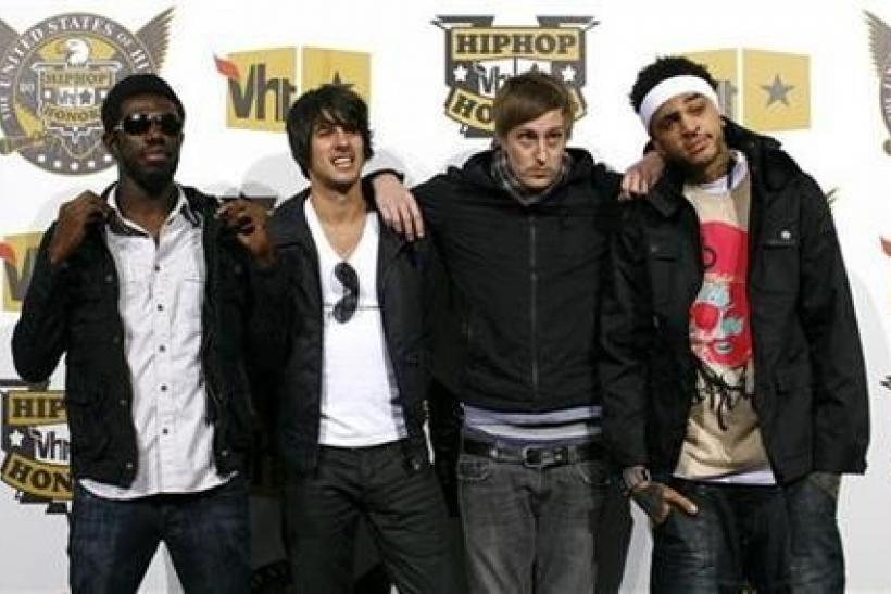 Tim William, Eric Roberts, Matt McGinley and Travis McCoy of the Gym Class Heroes arrive at the 2008 VH1 Hip Hop Honors event in New York