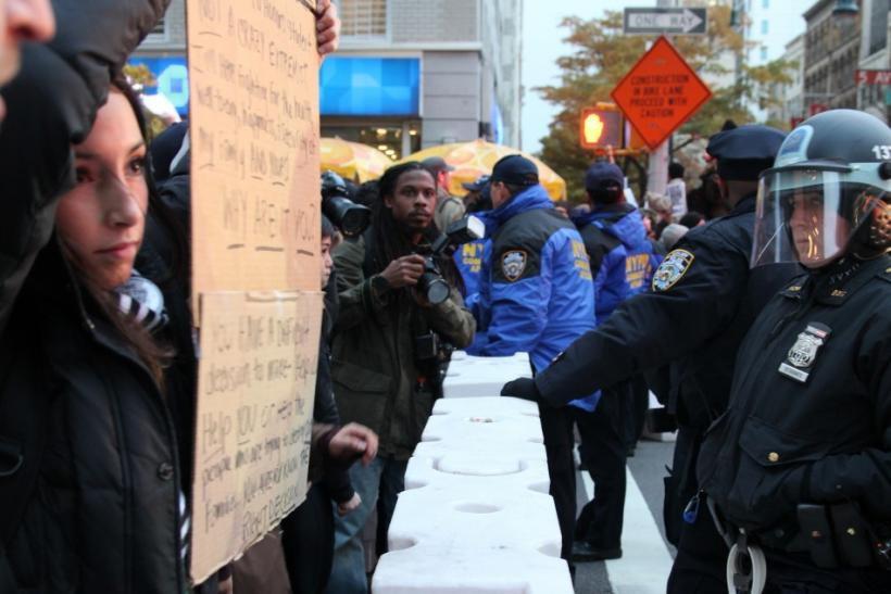 Occupy Wall Street Police Students Showdown