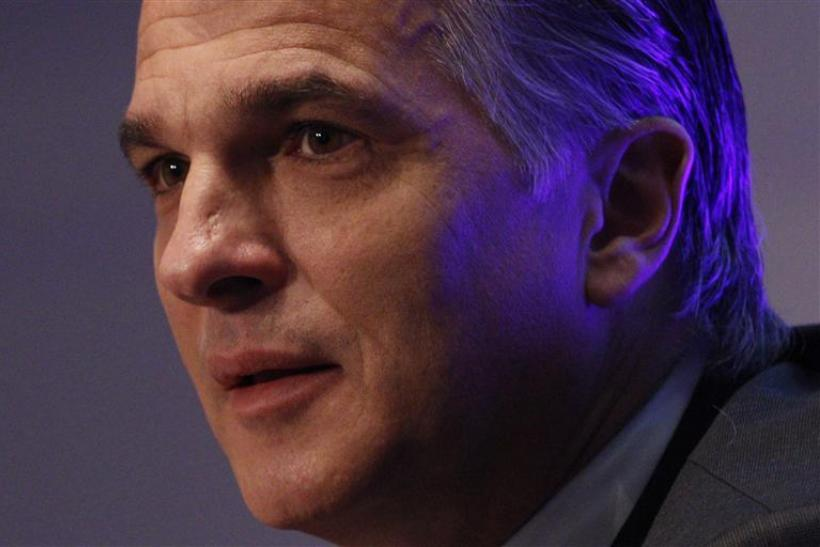 Swiss bank UBS CEO Ermotti attends a news conference in Zurich