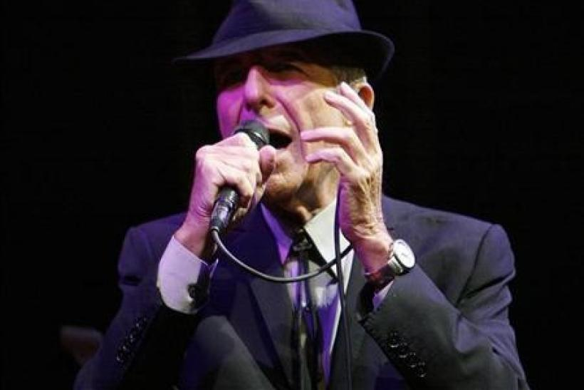 Canadian singer-songwriter Leonard Cohen performs at the Coachella Music Festival in Indio, California April 17, 2009.