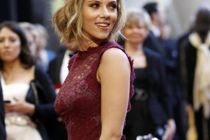 Actress Scarlett Johansson arrives to present at the 83rd annual Academy Awards in Hollywood