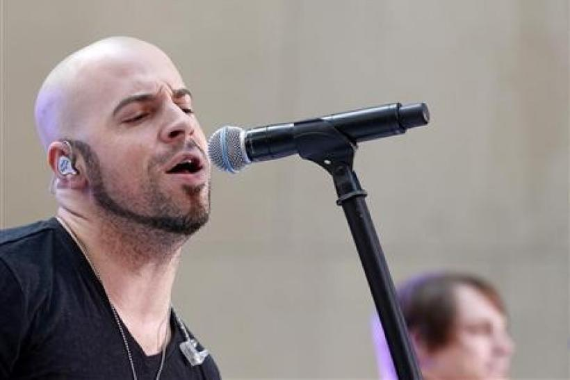 Singer Chris Daughtry performs with his band Daughtry on NBC's 'Today' show in New York