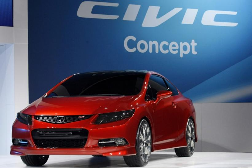American Honda Motors introduces its new Honda Civic concept vehicle during press preview day at Cobo Center of the North American International Auto show in Detroit