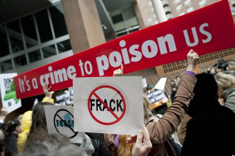 Protest against hydraulic fracturing, in Manhattan on Nov. 30, 2011.