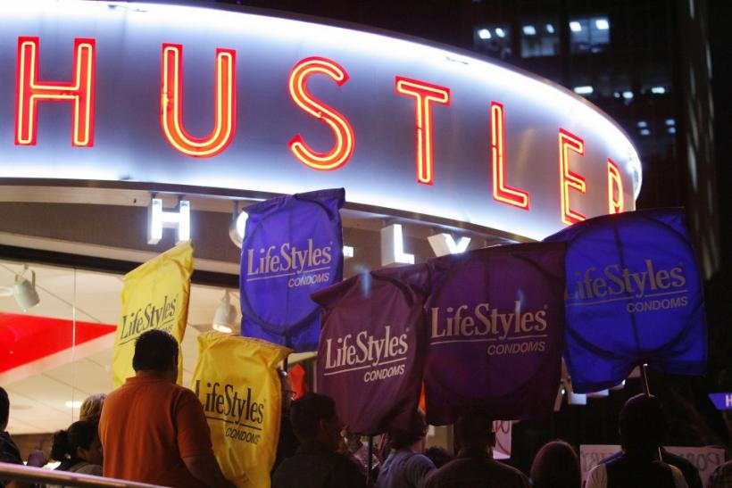 Activists rally in support of the use of condoms in the adult film industry in West Hollywood.
