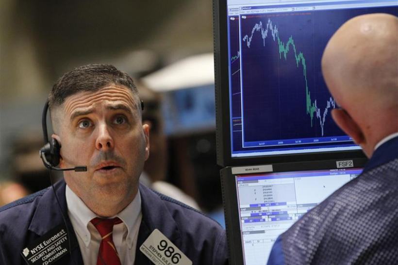 Stephen Guilfoyle of Meridian Equity Partners works on the floor of the New York Stock Exchange