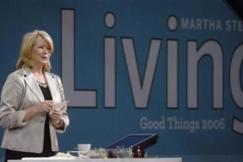 Martha Stewart speaks to the audience at her trade show, called ''Good Things'', in New York September 30, 2006.