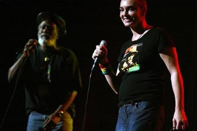Singer Sinead O'Connor performs with reggae legend Burning Speart at the 5th Annual Jammy Awards in New York