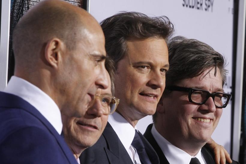 "Director Tomas Alfredson (R) poses with cast members (L-R) Mark Strong, Gary Oldman and Colin Firth at the Los Angeles premiere of their film ""Tinker, Tailor, Soldier, Spy"" in Hollywood"