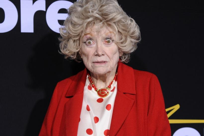 "Actress Phyllis Diller makes a face while attending a special screening of the feature-length documentary ""Method to the Madness of Jerry Lewis"" held at Paramount Studios in Los Angeles December 7, 2011."