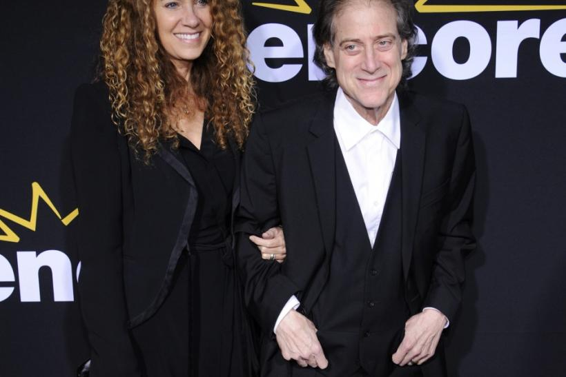 "Actor Richard Lewis and his wife Joyce Lapinsky attend a special screening of the feature-length documentary ""Method to the Madness of Jerry Lewis"" at Paramount Studios in Los Angeles"