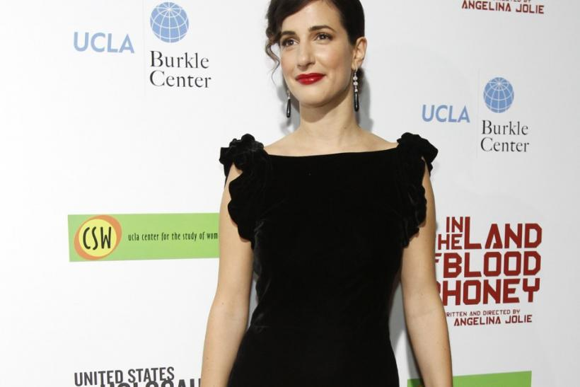 "Cast member Zana Marjanovic poses at the premiere of ""In the Land of Blood and Honey"" at the Arclight theatre in Los Angeles, California"
