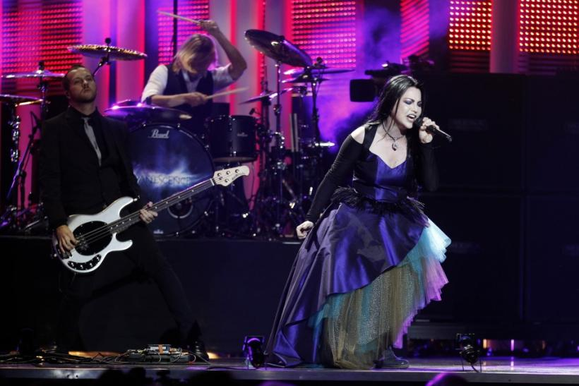 U.S. band Evanescence performs during the annual Nobel Peace Prize Concert in Oslo