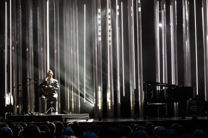 Norwegian singer Bernhoft performs during the annual Nobel Peace Prize Concert in Oslo