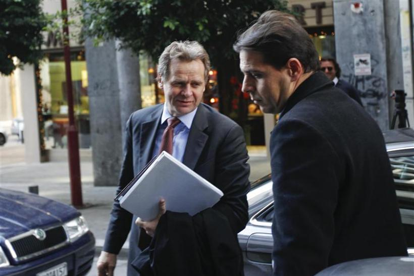 IMF's Chief of Mission Thomsen arrives at the finance ministry in Athens