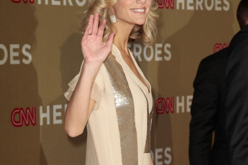 Model and actress Brooklyn Decker arrives at the CNN Heroes: An All-Star Tribute event at the Shrine Auditorium in Los Angeles, California