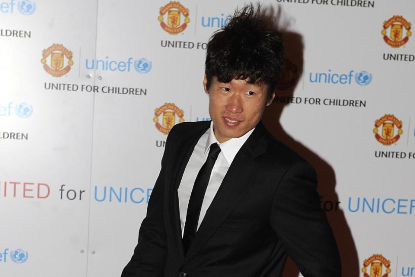 Manchester United's Park Ji-Sung arrives for the UNICEF Gala Dinner at Old Trafford Stadium in Manchester, northern England