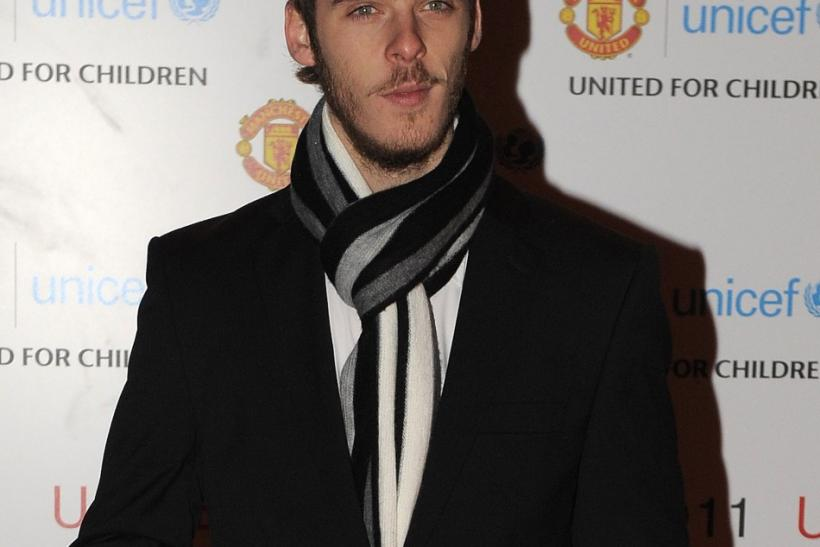 Manchester United's David de Gea arrives for the UNICEF Gala Dinner at Old Trafford Stadium in Manchester, northern England