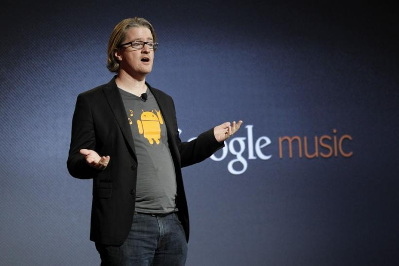 Chris Yerga, Google's engineering director, speaks at the launch of Google Music in Los Angeles