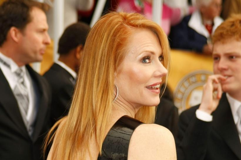 Actress Marg Helgenberger arrives at the 14th annual Screen Actors Guild Awards in Los Angeles