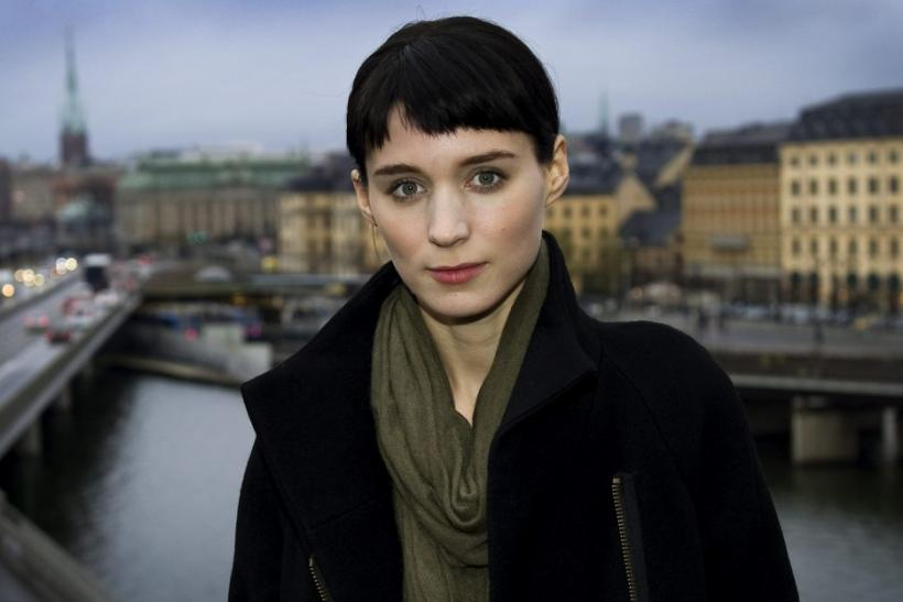 Actress Rooney Mara poses during a press meeting in Stockholm