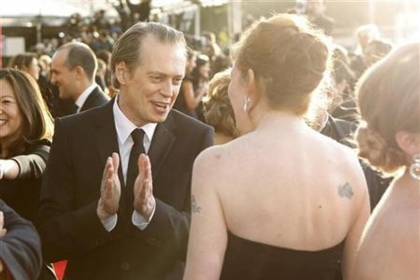 Steve Buscemi, from the TV drama ''Boardwalk Empire,'' arrives at the 17th annual Screen Actors Guild Awards in Los Angeles, California