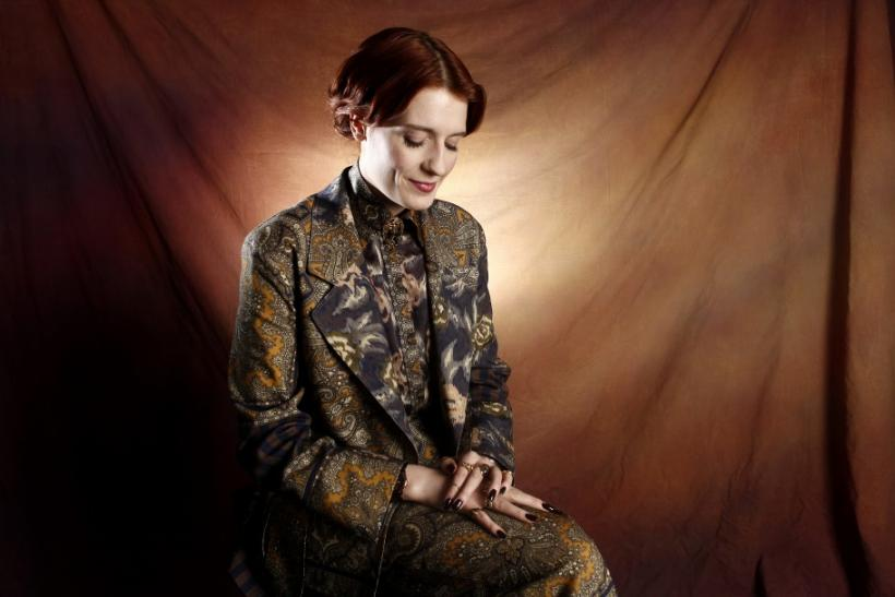 Florence Welch, lead singer of British band Florence + The Machine, poses for a portrait at MTV in New York
