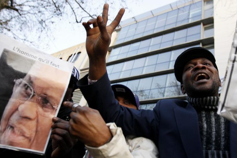 Supporters of Congolese opposition leader Tshisekedi demonstrate in Brussels