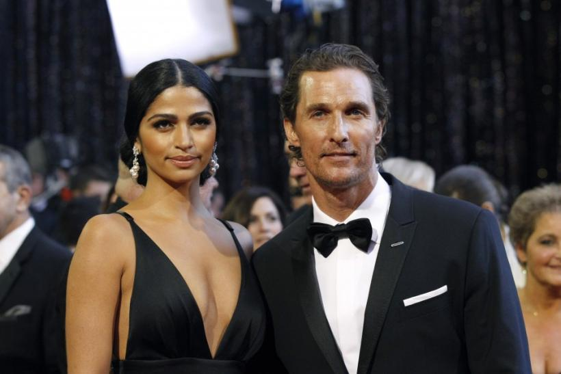 Actor Matthew McConaughey and his partner Camila Alves arrive at the 83rd Academy Awards in Hollywood