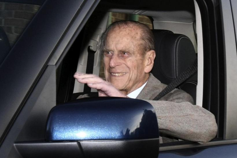 Britain's Prince Philip is driven away from Papworth Hospital in southern England