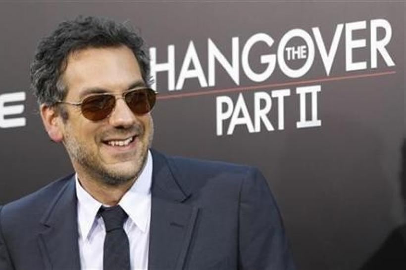 Director of the movie Todd Phillips poses at the premiere of ''The Hangover Part II'' at Grauman's Chinese theatre in Hollywood, California