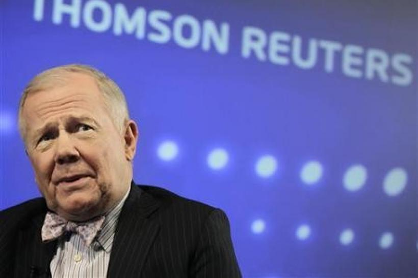 Jim Rogers says has short-term bet on euro, bearish on gold