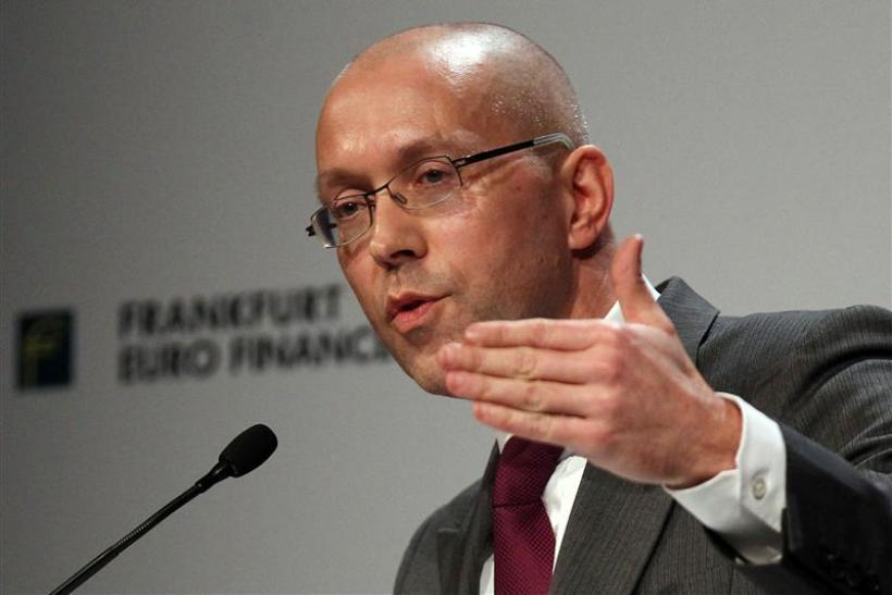 Asmussen Germany's Finance State Secretary holds his speech during the 14th Euro Finance Week in Frankfurt