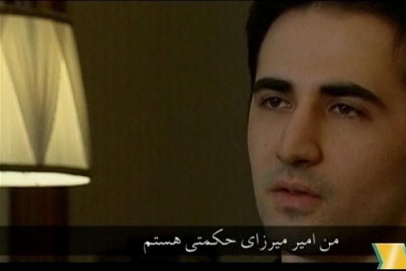 Iranian-American Amir Mirza Hekmati, who hads been sentenced to death by Iran's Revolutionary Court on the charge of spying for the CIA, speaks in this undated still image taken from video in an undisclosed location
