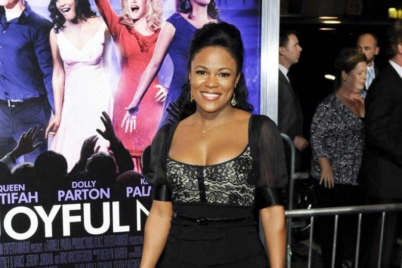 "Actress DeQuina Moore arrives at the Hollywood premiere of ""Joyful Noise"" in Los Angeles, California"