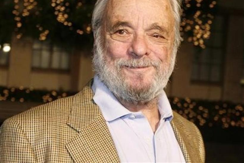 Stephen Sondheim poses as he arrives at a special screening of the DreamWorks Pictures film ''Sweeney Todd The Demon Barber of Fleet Street'' at Paramount Studios in Hollywood, California