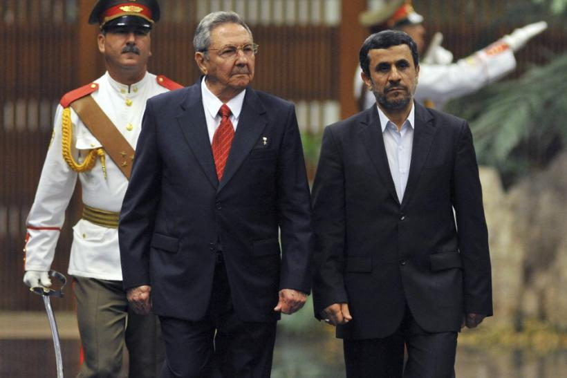 Ahmadinejad and Castro