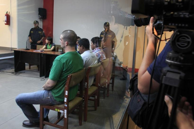 Dutch citizen Joran Van der Sloot sits in the courtroom before the reading of his verdict in Lima